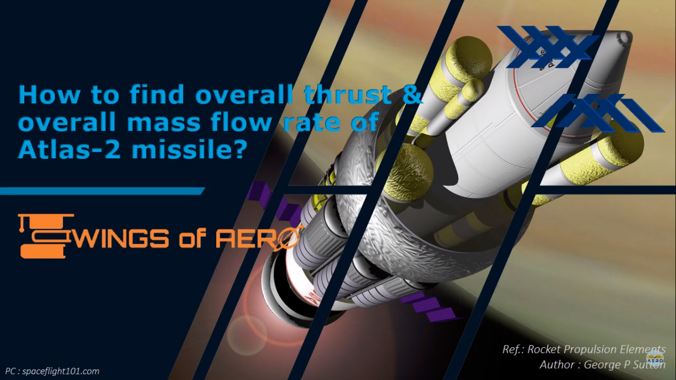 Overall thrust & overall mass flow rate of Atlas-2 missile