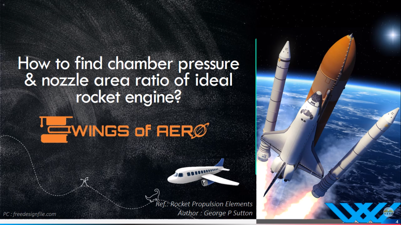 Chamber Pressure & Nozzle Area Ratio of Ideal Rocket Engine