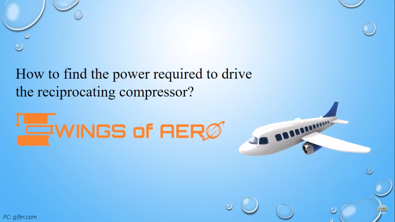 Power Required To Drive The Reciprocating Compressor
