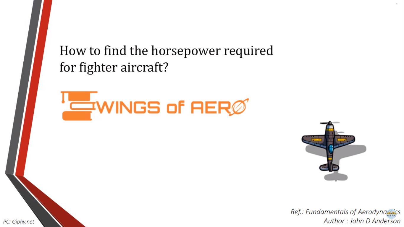 Horsepower required for fighter aircraft