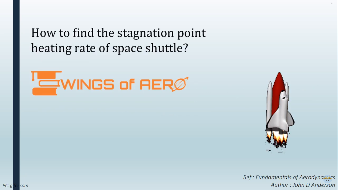 Stagnation Point Heating Rate Of Space Shuttle