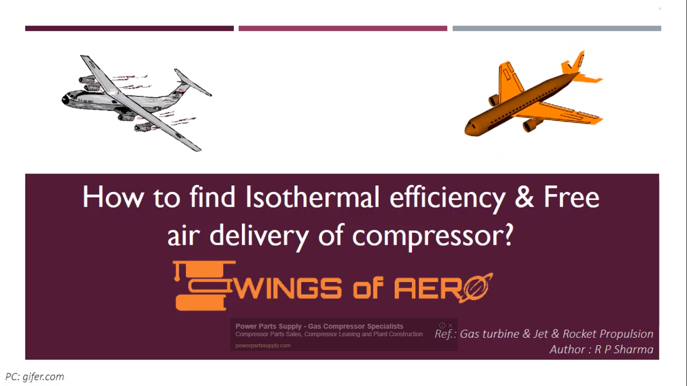 Isothermal Efficiency & Free Air Delivery Of Compressor