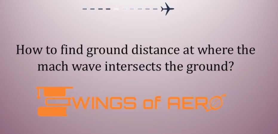 Ground Distance At Where The Mach Wave Intersects The Ground