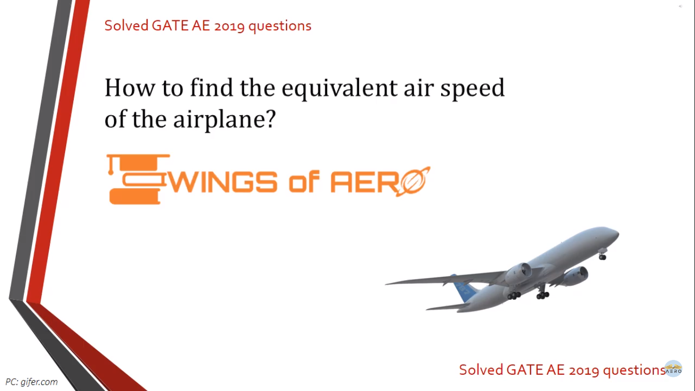 Equivalent Air Speed of The Airplane