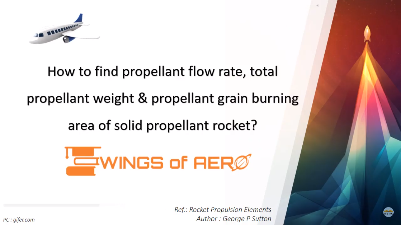 Propellant Flow Rate, Total Weight & Burning Area In Rocket
